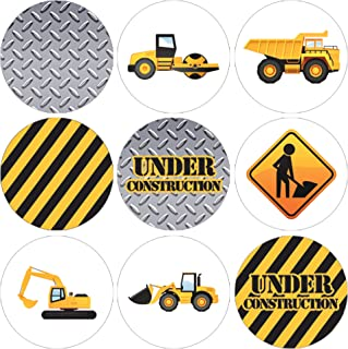 Construction Birthday Party Favor Stickers - 180 Labels