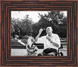 Poster Palooza 12x15 Bamboo Walnut Complete Wood Picture Frame with UV Acrylic, Foam Board Backing, Hardware