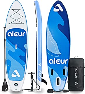 aleur Explorer Inflatable Stand Up Paddle Board Package W Premium SUP Accessories & Backpack, Non-Slip Deck, Leash, Paddle...