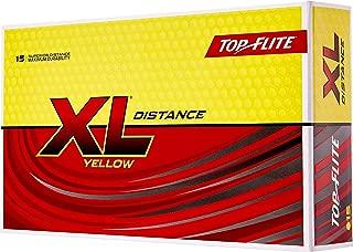 Top-Flite 2019 XL Distance Yellow Golf Balls – 15 Pack