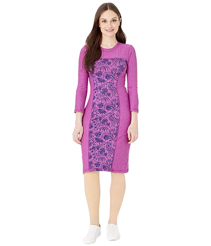 Independence Day Clothing Co Reversible Long Sleeve Panel Dress (Pink Paris Blossoms) Women's Dress