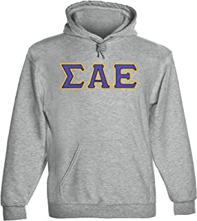 Fashion Greek Sigma Alpha Epsilon Twill Letter Hoody
