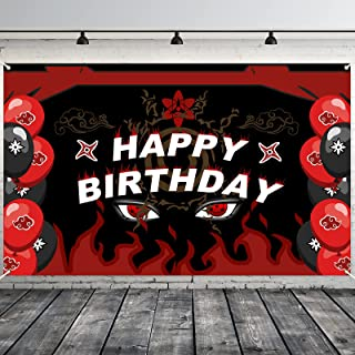 NinjaTheme Birthday Party Backdrop Decorations,Cool NinjaParty Background Banner Signs for Boys Birthday Favor Supplies ...