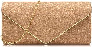 Milisente Women Clutches Glitter Sequins Evening Bag Elegant Envelope Shoulder Bag
