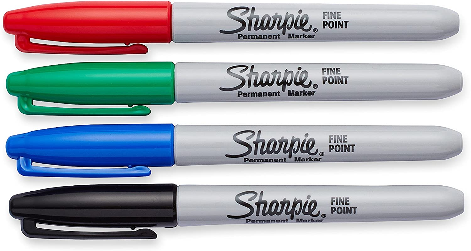 Assorted Colors 30217PP Fine Point 8 Pack Sharpie Permanent Markers