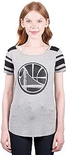 Ultra Game NBA Women's Box Out Varsity Stripe Tee Shirt