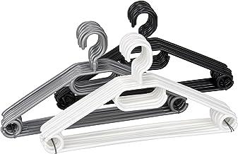 WENKO Kleerhangers Easy 10-delige set - beugels, set van 10, polypropyleen, 40,5 x 21 x 0,7 cm, gesorteerd