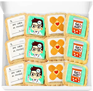 Get Well Soon Gift Cookies Basket Box For Kids and Adults After Surgery Care Package Feel Better Sick | Nut Free | Kosher