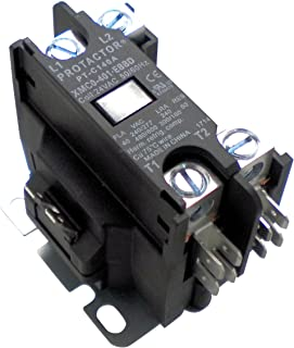 Protactor 1 Pole 40 AMP Heavy Duty AC Contactor Replaces Virtually All Residential 1 Pole Models