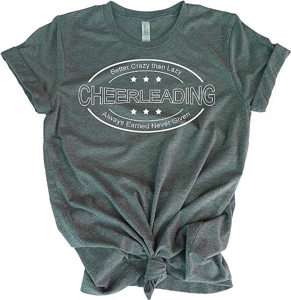Cheerleading Shirts for Active Girls and mom Teen Girl Cheerleading t-Shirt top