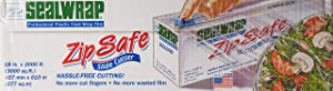 Sealwrap Cling Classic Zip Safe Plastic Wrap, 18