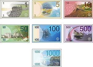 ゲーム用の紙幣 (Cセット) 7種 112枚