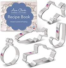 Ann Clark Cookie Cutters 5-Piece Gone Fishing Cookie Cutter Set with Recipe Book, Vintage Truck, Fish, Cute Goldfish, Hook...