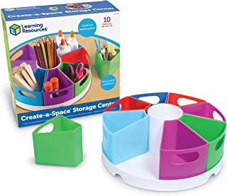 Learning Resources Create-a-Space Storage Center, Homeschool Storage, Fits 3oz Hand Sanitizer Bottles, Bright Colors, Clas...