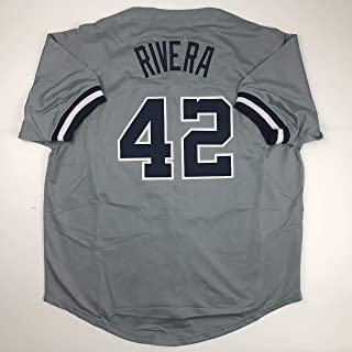 Unsigned Mariano Rivera New York Grey Custom Stitched Baseball Jersey Size Men's XL New No Brands/Logos