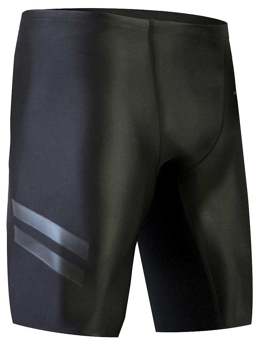 Onvous Boy's Raven Swim Jammer | Racing & Training Black Swimsuit | Fast, Flexible, Comfortable | Sizes: 20-28