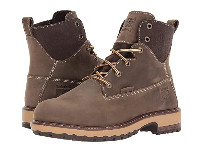 Timberland PRO  Hightower 6 Alloy Safety Toe Waterproof (Turkish Coffee Full Grain Leather) Womens Work Lace-up Boots