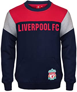 Liverpool FC Official Soccer Gift Boys Crest Sweatshirt Top