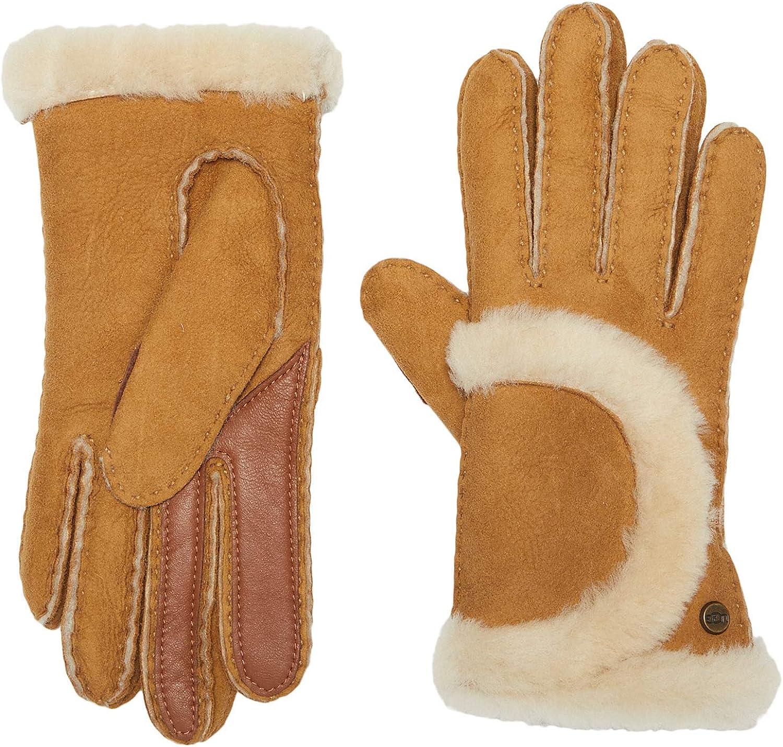 UGG Womens Sheepskin Exposed Seam Glove