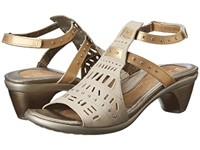 Naot Vogue (Linen Leather/Gold Sheen Leather) Women
