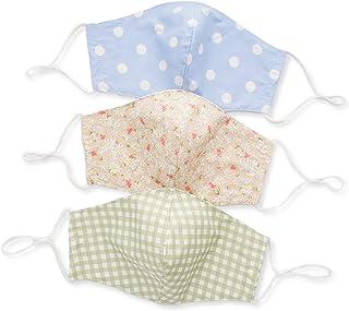 Floral Plaid Polka dot Designer Face Mask For Women With Filter pocket Adjustable Ear Loop, Cute Cool Fashionable Designer Cloth Mask Reusable Washable, PACK OF 3