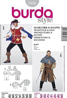 Burda Sewing Pattern 7976 Burda Style, Musketeer & Page, fancy dress costume.