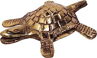 Hashcart Brass Turtle Good Luck Charm Home/Table Decor Statue/Figurine
