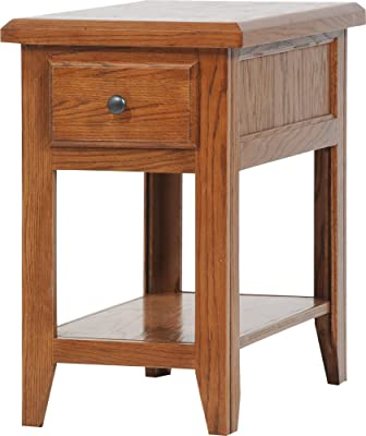 Amazon com: End Table With Storage with Rustic and Cabin