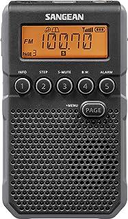 Monland 1pz Portatil 5V Radio de Dos Bandas de Bolsillo Receptor Digital FM//Am con Auriculares Cable USB