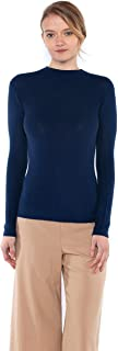 Tissue Weight 55% Silk 45% Cashmere Waffle-Knit Long Sleeve Mock Funnel Neck Sweater