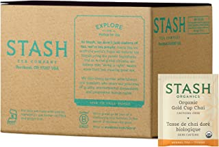 Stash Tea Organic Gold Cup Chai Herbal Tea with Turmeric 100 Count Tea Bags in Foil (Packaging May Vary) Individual Herbal Tea Bags for Use in Teapots Mugs or Cups, Brew Hot Tea or Iced Tea