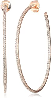 Cz By Kenneth Jay Lane Women's 5Cttw Cz Pave Inside/Outside 3