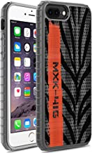 Compatible with iPhone 8 Plus, iPhone 7 Plus Case, Yeezy Knitting Fabric Hard PC Anti-Scratch Shock Absorption Bumper Cover Case for iPhone 8 Plus (2017), iPhone 7 Plus (2016) 5.5 Inch, Gray Orange