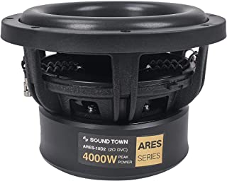"""$154 » Sponsored Ad - Sound Town 10"""" Dual Voice Coil 1000W Car Audio Subwoofer, Dual 2-Ohm, CEA Rated (ARES-10D2)"""