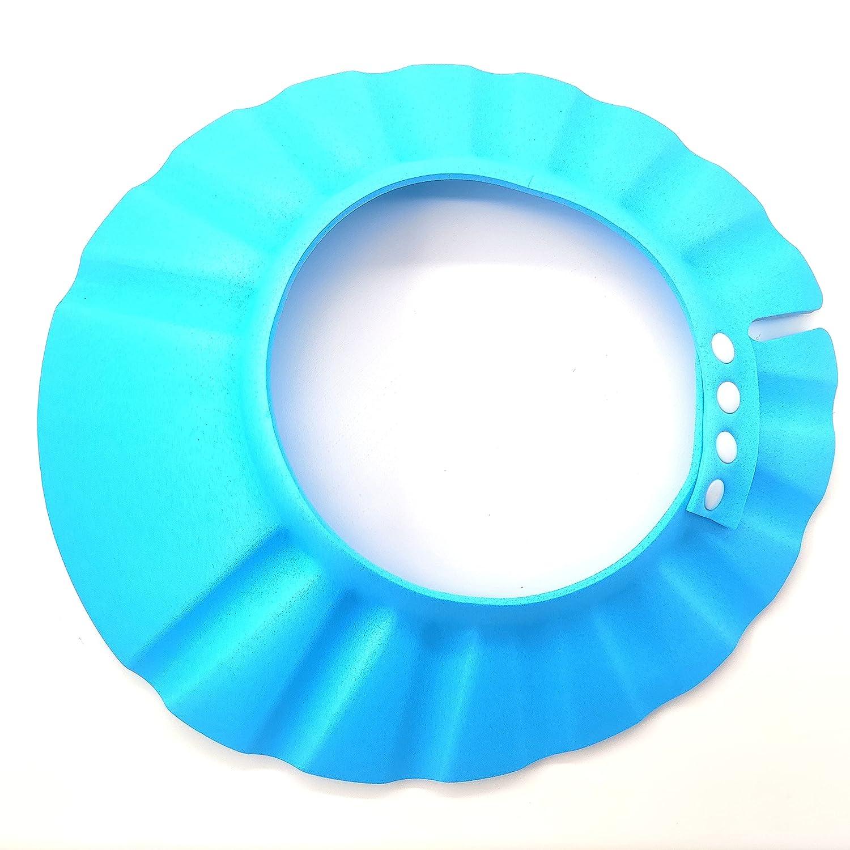 Xianglangsuccess 2pieces Baby shower cap, blue waterproof, adjustable size for infants, infants, children