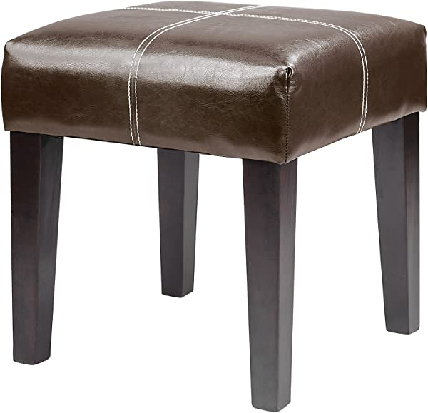 CorLiving LAD 229 O Antonio Bench In Dark Brown Bonded Leather 16 Inch
