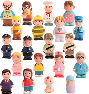 Beverly Hills Doll Collection Sweet Lil Folks Set of 20 Community and Family Dollhouse Figures Soft Vinyl Play People for All Ages