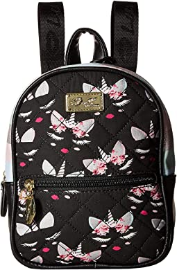 Sadie PVC Mini Sequin Quilted Backpack