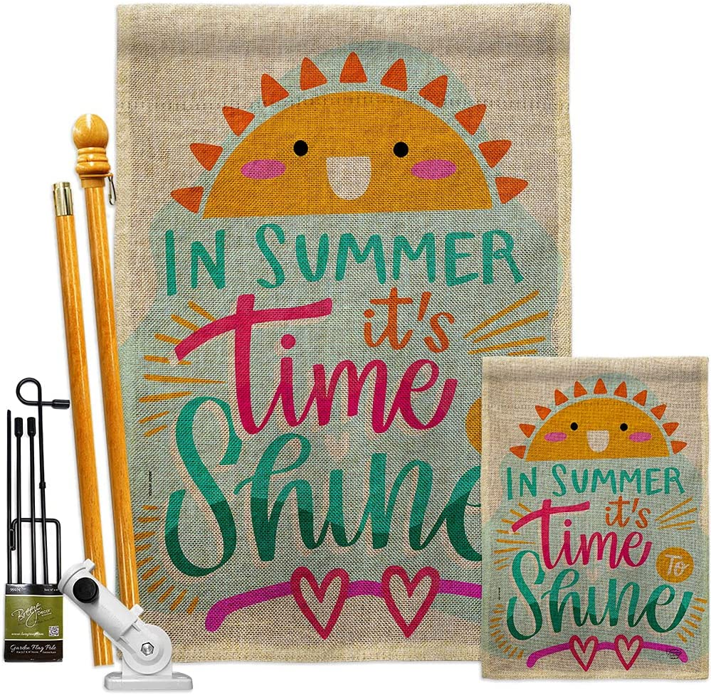 Fun In The Sun Time Ranking TOP1 2021 autumn and winter new To Shine House Kit Flags Garden Summe Burlap