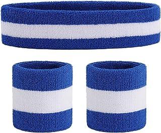 OnUpgo Sweatband Set Sports Headband Wristband Set...
