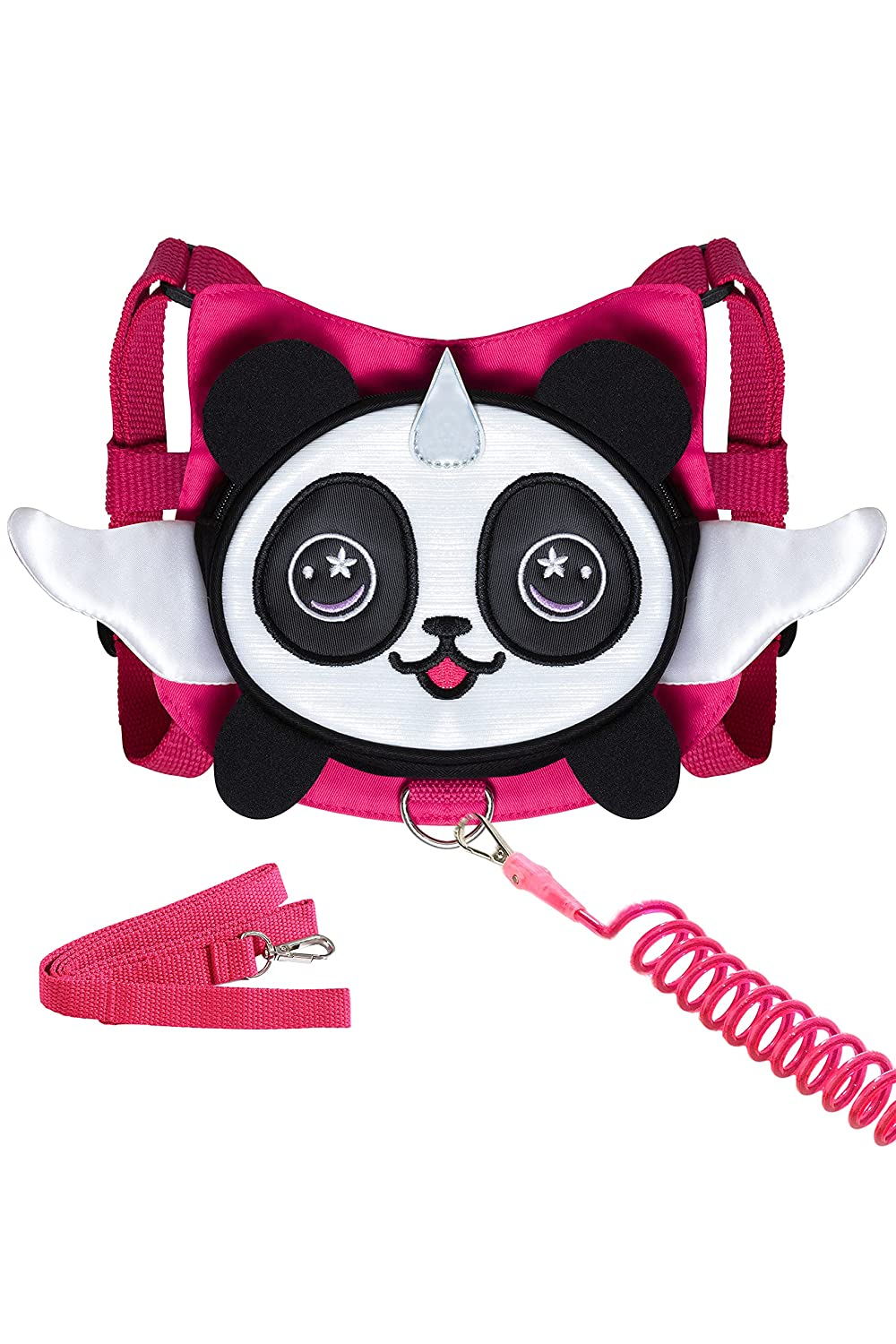 Panda Toddler Harness with Leash Kid Anti-Lost Wrist Link Leash Child Wristband (Rose)