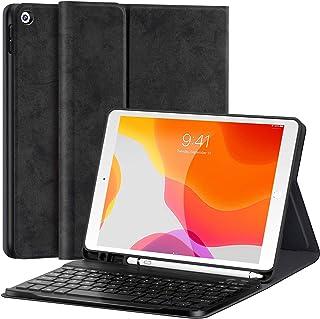 iPad 10.2 キーボード ケース 第8世代/第7世代対応iPad7/iPad8 2019/2020モデル アイパッド 10.2 インチ Bluetooth ワイヤレス キーボードカバー スタンド機能付き 多角度調整 スマートスリープiPa...
