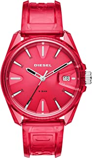 MS9 Three-Hand Red Transparent Watch