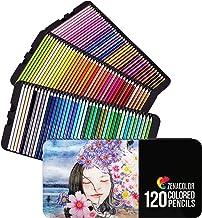 ⭐ 120 مجموعه مداد رنگی ، شماره گذاری شده ، با جعبه فلزی - 120 مداد رنگ آمیزی برای کتاب های رنگ آمیزی بزرگسالان - مداد رنگی برای بزرگسالان و کودکان ، هدیه برای هنرمندان - مجموعه مداد رنگی ، لوازم آرایش مدرسه