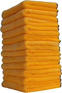 Chemical Guys MIC_506_12 Professional Grade Premium Microfiber Towels, Gold (16 Inch x 16 Inch) (Pack of 12)