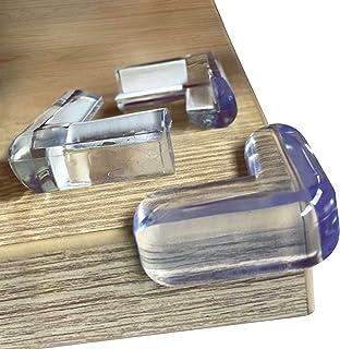 محافظ های گوشه ای Clear Edge Bumpers (20 بسته) برای ایمنی کودک از گوشه های میز ، بهترین سپر گوشه ای مبلمان با مقاومت بالا ، روکش کوسن کابینت لاستیکی ضد انفجار کودک ، روکش پلاستیکی