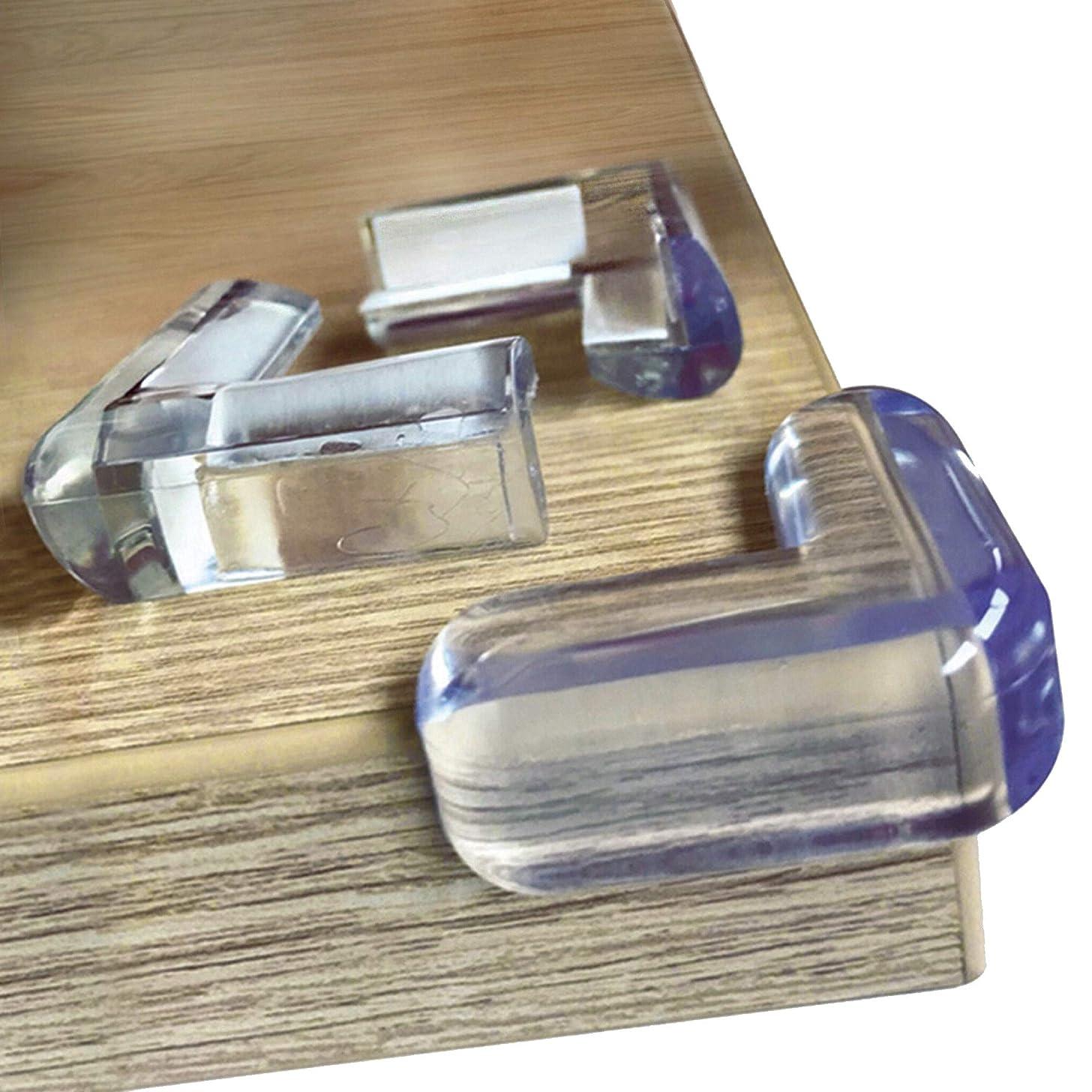Skyla Homes - Clear Corner Protectors (20-Pack) | High Resistant Adhesive Gel | Best Baby Proof Corner Guards | Stop Child Head Injuries | Tables, Furniture & Sharp Corners Baby Proofing