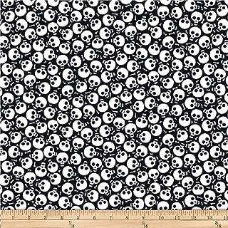 Blank Quilting So Adora-Boo! (Glow In The Dark) Skulls Black, Fabric by the Yard