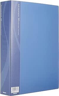 ナカバヤシ A4クリアブック 100ポケット ベーシックカラー ブルー CB1036B-N
