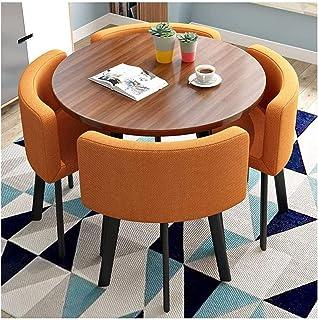 Mesa de comedor Juego de muebles Tablas moderna minimalista y Sillas Mesa de la cocina de la sala principal de la vendimia Ronda de algodón de lino Sillón Mesa y silla de comedor La negociación de neg